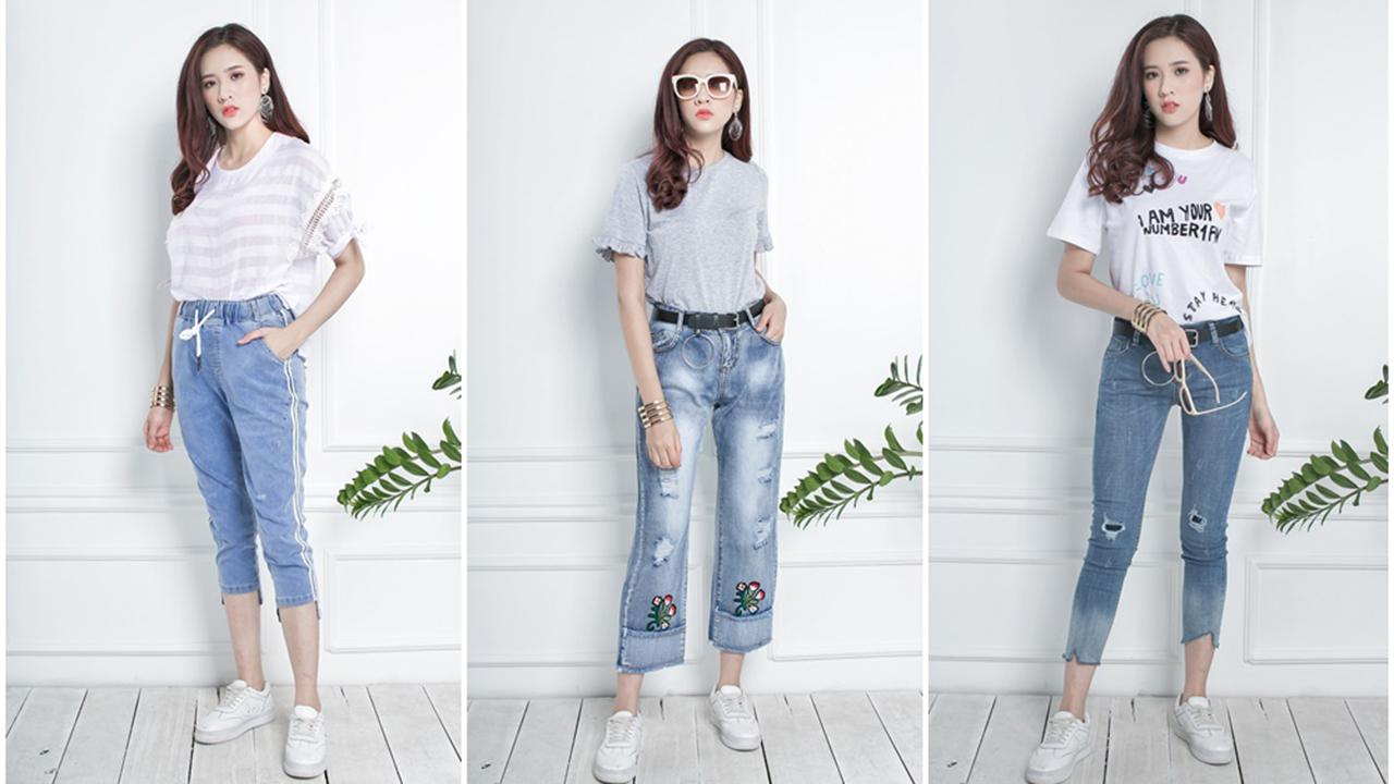 Áo phông + quần jean = đẳng cấp không bao giờ lỗi mốt