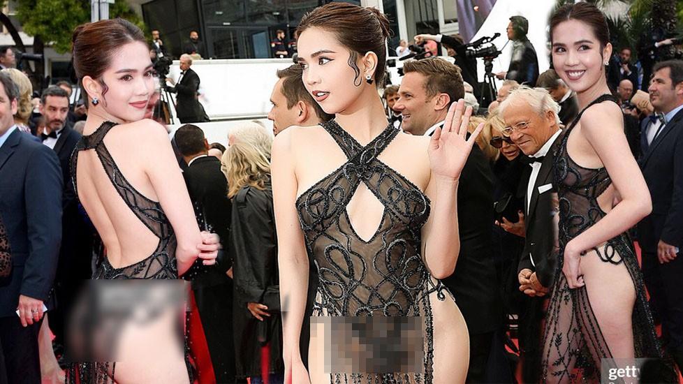 Ngọc Trinh diện trang phục 'mặc như không' tham dự Cannes