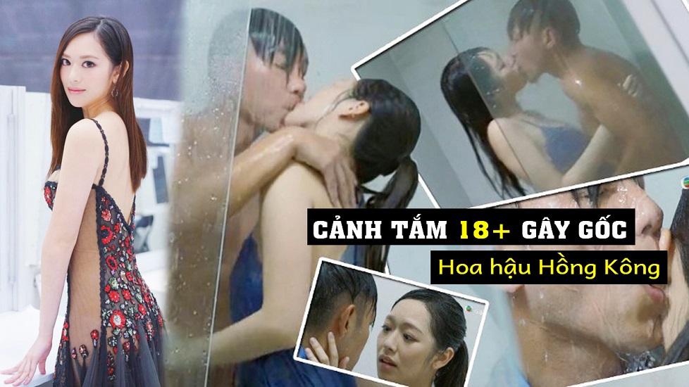 Hoa hậu Hồng Kông gây sốc với cảnh tắm 18+ trên truyền hình
