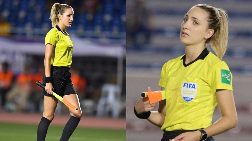 Nhan sắc 'cực phẩm' của nữ trọng tài Hot girl từ chối bàn thắng phía Thái Lan