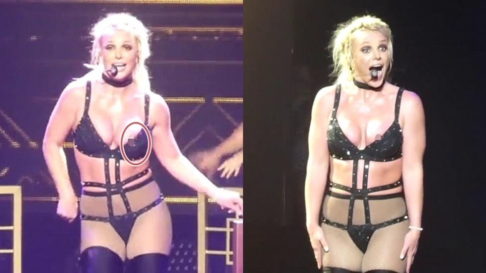 Nhảy quá sung Britney Spears lộ 'điểm nhạy cảm' trên sân khấu