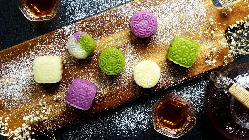 Cách pha màu cho bánh dẻo Trung Thu