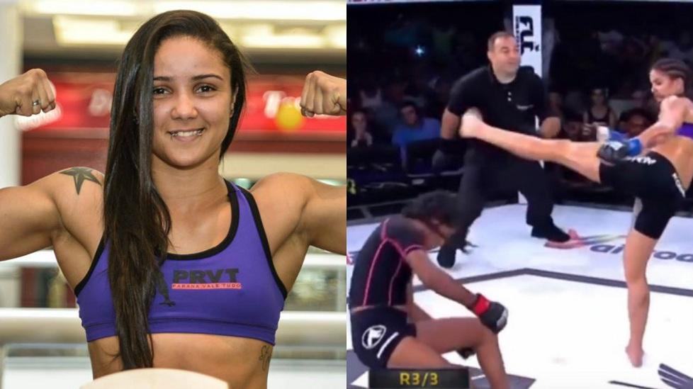 Kinh hoàng với cú đá liên hoàn vào đầu của nữ võ sĩ MMA
