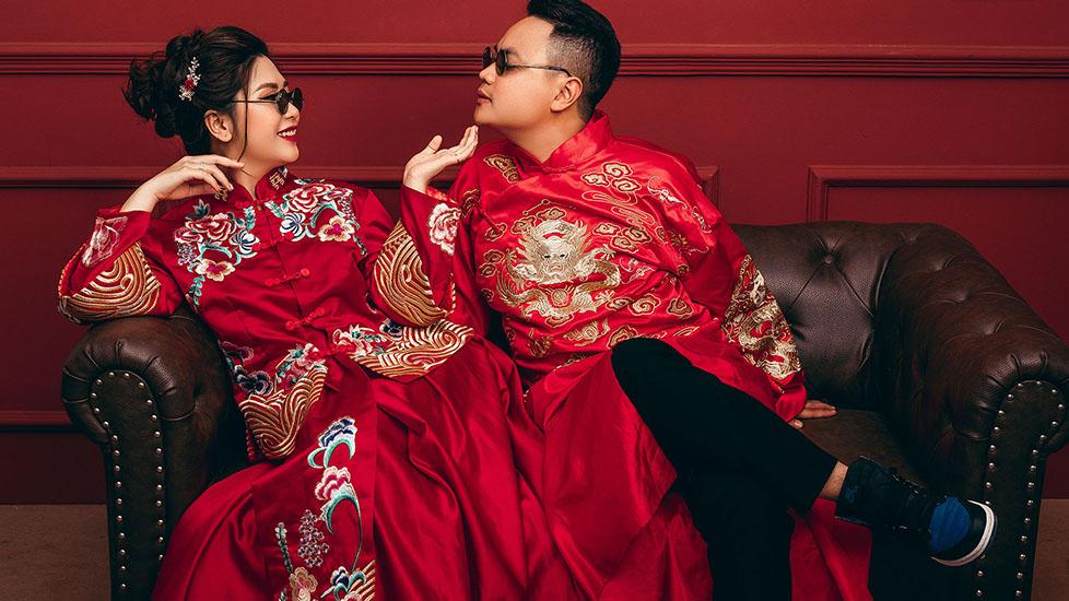 Đẹp không thể kìm lòng được với những bộ đồ cưới truyền thống xứ Trung