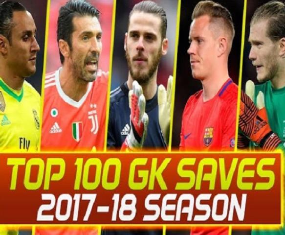 100 pha cứu thua đẹp nhất mùa giải 2017/18