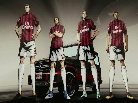 Sao AC Milan cực ngầu với phong cách Tsubasa