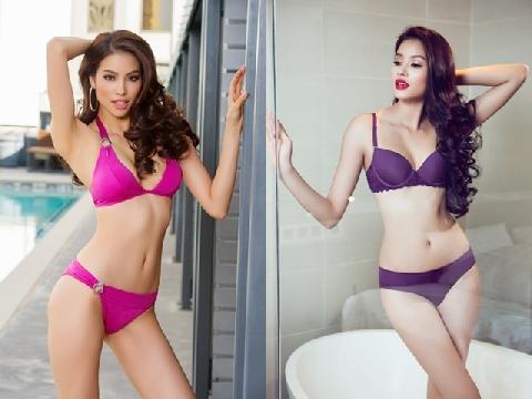 """Phạm Hương soán ngôi '' Nữ hoàng nội y"""" của Ngọc Trinh"""