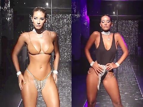 Hãng bikini số 1 thế giới Minimale Animale đưa dàn mẫu múa cột lên sàn catwalk gây tranh cãi