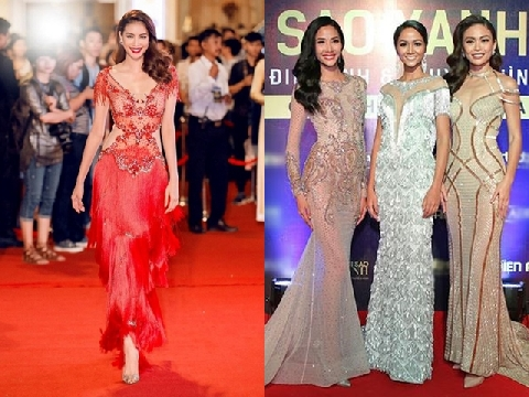 Dàn mỹ nhân Việt đẹp lung linh trên thảm đỏ Ngôi sao xanh 2017