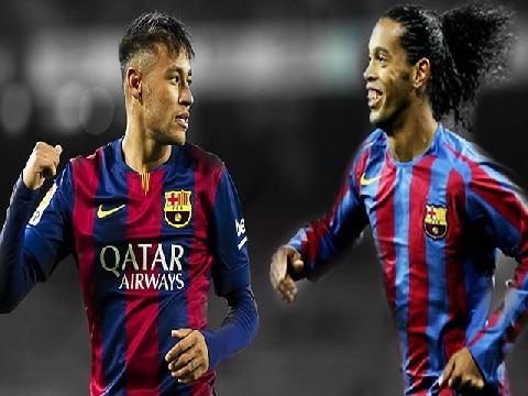 Kỹ thuật đỉnh cao của Neymar và Ronaldinho