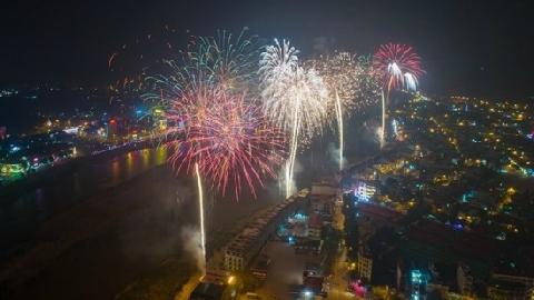Pháo hoa rực sáng chào năm mới 2018