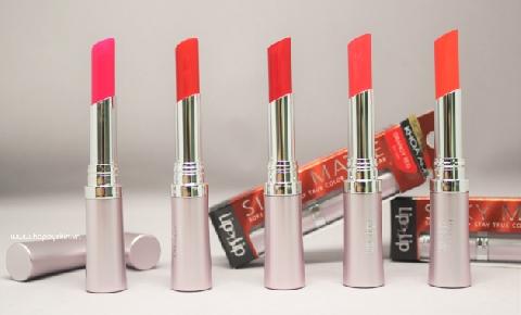 Review 5 thỏi son lì trong bộ sưu tập Rohto Lip on Lip silky matte.