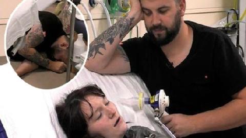 Ông bố ngất xỉu trong phòng sinh khi thấy bạn gái la hét vì đau đớn