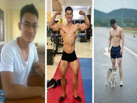 Chàng trai Nghệ An gầy gò lột xác nhờ tập gym