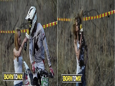 Nữ MC nóng bỏng bị một tay đua xe chơi khăm