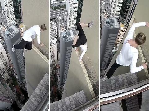 Hết hồn vs màn biểu diễn trên tòa nhà trăm tầng