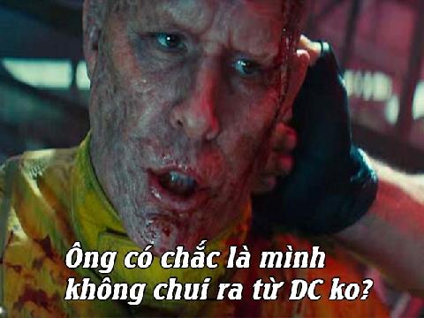 Rò rỉ phân đoạn Deadpool đá đểu vũ trụ điện ảnh DC