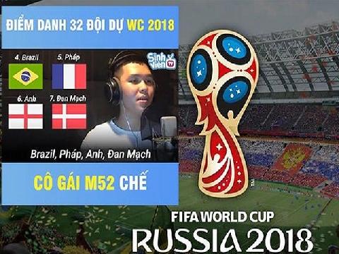 Nhạc chế điểm danh 32 đội tranh tài ở World Cup 2018