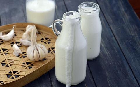 Giảm cân bằng cách uống một ly sữa với tỏi trước khi đi ngủ