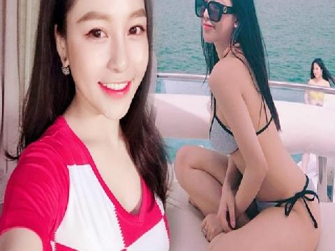 Tập cơ bụng cùng hot girl Trâm Anh