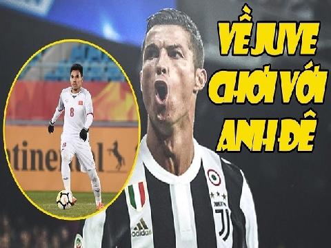 Chết cười khi Ronaldo muốn đá cùng Đức Huy U23 Việt Nam tại Juventus