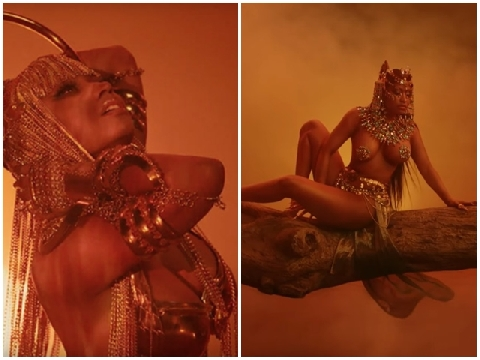 Bỏng mắt vì 3 vòng đẫy đà của Nicki Minaj trong MV mới