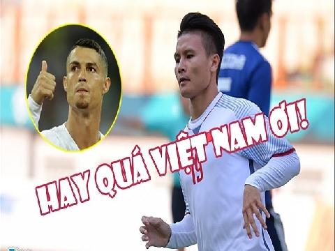 [Chế] Ronaldo, Messi chúc mừng Olympic Việt Nam sau chiến thắng trước Nhật Bản