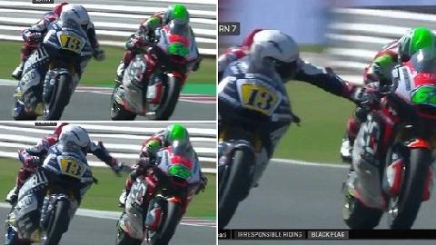 Tay đua MotoGP bóp phanh của đối thủ đang phóng 225km/