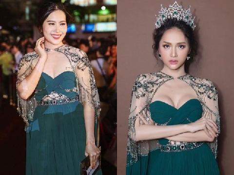 Nam Em ngày càng phì nhiêu màu mỡ, kém sắc khi diện váy đụng hàng Hương Giang