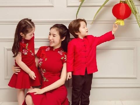 Elly Trần đẹp lỗng lẫy bên cạnh hai con cưng trước thềm Trung Thu