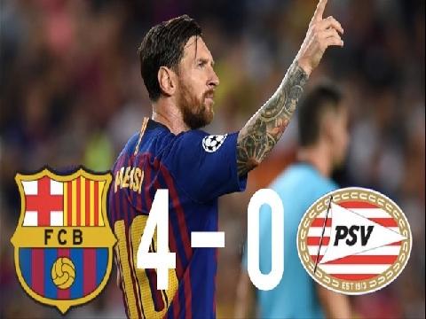 Barcelona 4-0 PSV (Bảng B Champions League)