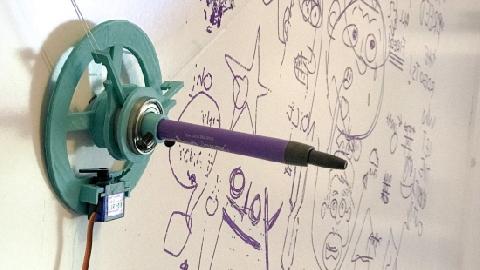 Robot vẽ tranh trên tường trong vài phút