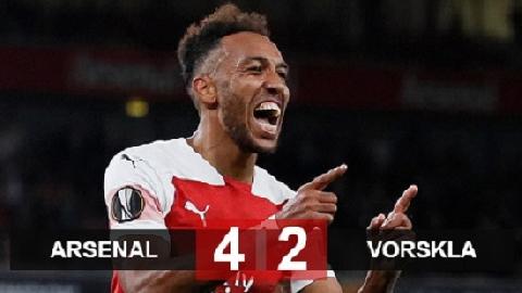 Arsenal 4-2 Vorskla (bảng F Europa League 2018/19)