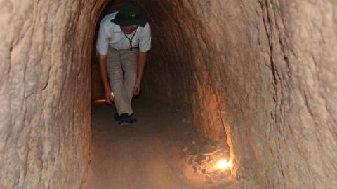 Địa đạo Củ Chi nằm trong 7 đường hầm hàng đầu thế giới