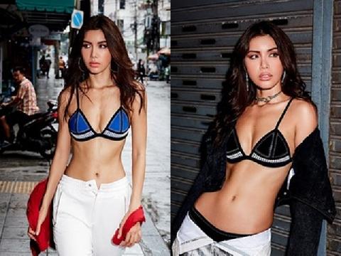 Minh Tú mặc bikini đi chợ Thái Lan