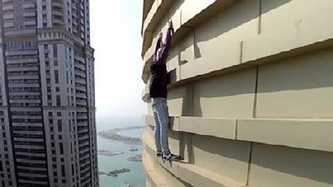 Tay không leo nhà chọc trời 77 tầng ở Dubai