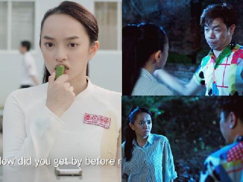 Hot girl 'Em Chưa 18' bị Thái Hoà tát sấp mặt trong 'Hồn Papa Da Con Gái'