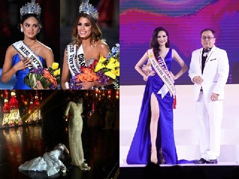 Những sự cố hy hữu trong giây phút đăng quang Hoa hậu