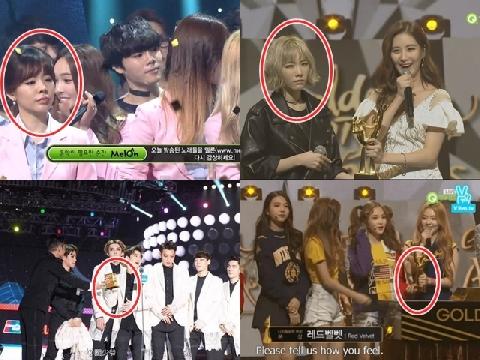 Khi idol Kpop bị tố 'bẩn tính' với đồng nghiệp ngay trên sân khấu