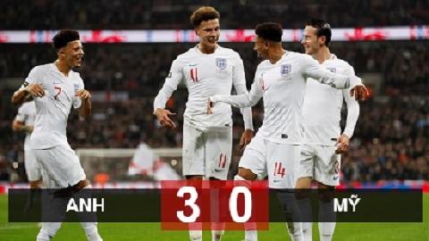 Anh 3-0 Mỹ (giao hữu quốc tế)