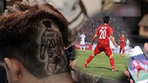 Fan cuồng khắc chân dung Phan Văn Đức, Công Phượng,.. lên tóc