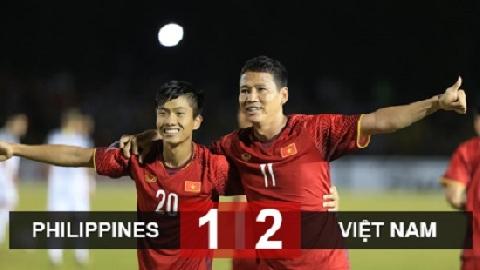 Philippines 1-2 Việt Nam (Lượt đi bán kết AFF Cup 2018)