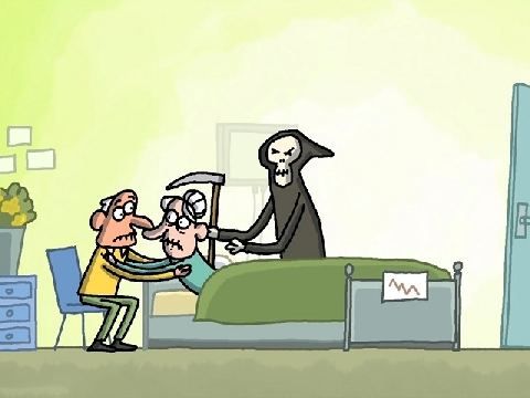 Thư giãn đầu tuần với hoạt hình: Nằm chờ thần chết