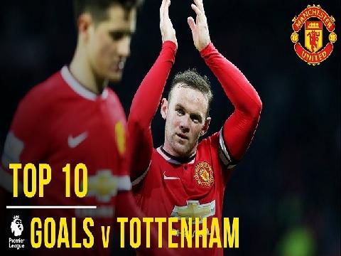 10 bàn thắng đẹp nhất của M.U vào lưới Tottenham