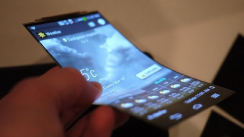 Điện thoại màn hình dẻo đầu tiên trên thế giới