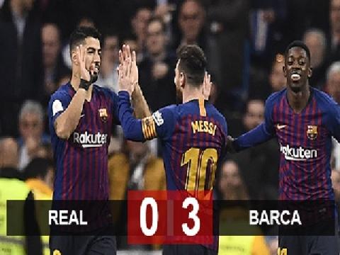 Real Madrid 0-3 Barcelona (Bán kết lượt về Cúp nhà Vua)