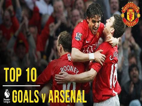 Top 10 bàn thắng đẹp nhất của M.U vào lưới Arsenal