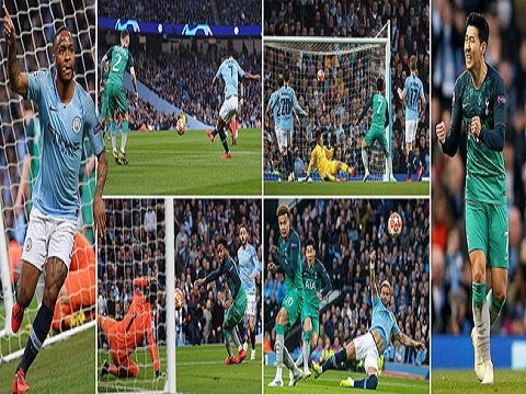 Man City 4-3 Tottenham (Lượt về tứ kết Champions League 2018/19)