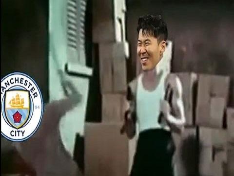 Clip chế: Son Heung min khiến cả đội Man City đổ gục dưới chân