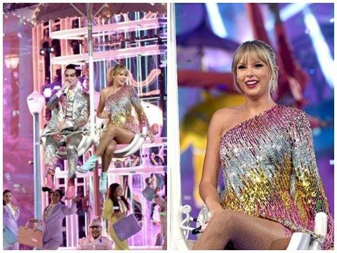 Taylor Swift lộng lẫy hóa bướm khi live ''ME!'' tại BBMAs 2019
